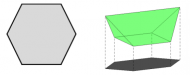 hexagon and projection of a polytope